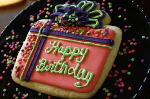 Happy Birthday Present Cookie