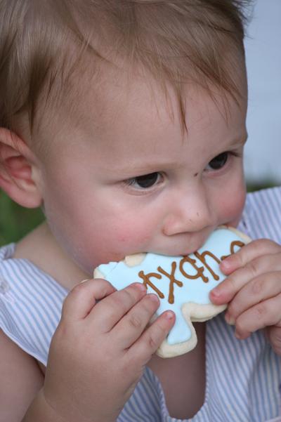 Ryan with his Rhino (ryan-o) cookie