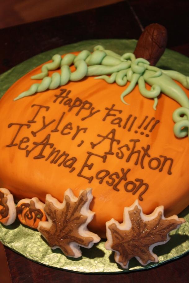 Smaller Pumpkin Cake