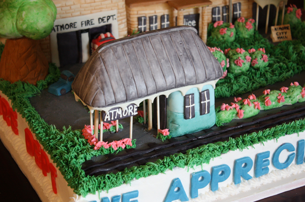Hand Sculpted Train station