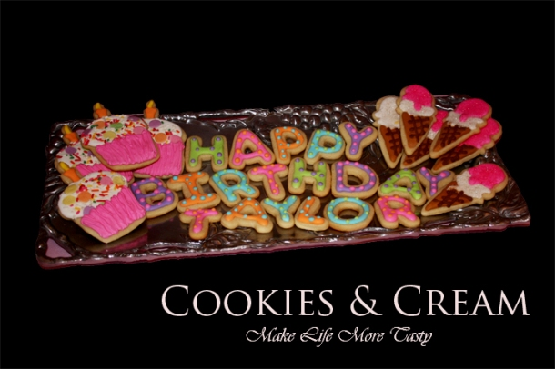 Welcome !!! Thanks for stopping by to view some pictures of many Cookies N Creams. Just remember, Each cookie or cake can be personalized for you .