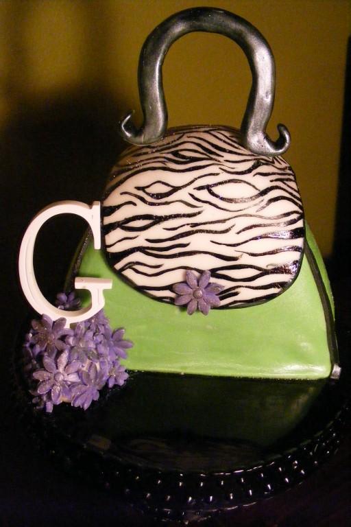 Zebra Purse Cake