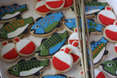 Fish and Cork Cookies