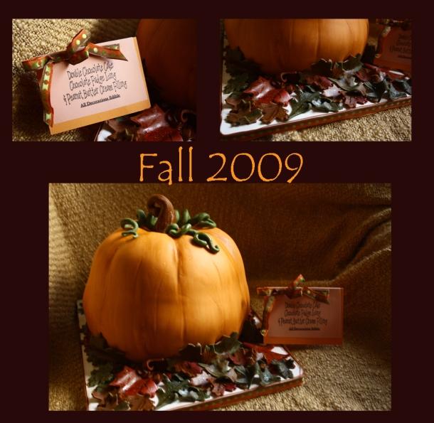 Scuplted Pumpkin Cake